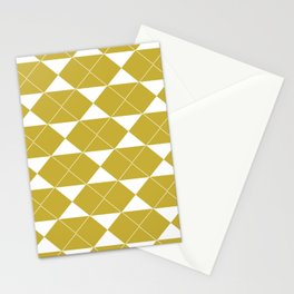 The 70's in Yellow and White Stationery Cards