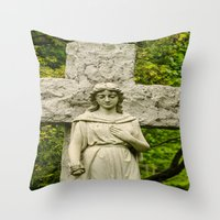 religious Throw Pillows featuring Religious Statue by Michael P. Moriarty