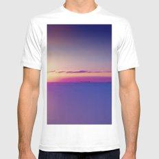Sunset on the Atlantic Ocean Mens Fitted Tee MEDIUM White