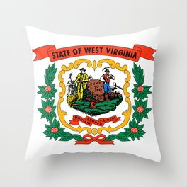 West Virginia Flag Throw Pillow