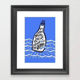 Just A Drop in The Ocean Framed Art Print