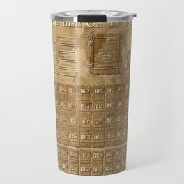 periodic table of elements Travel Mug