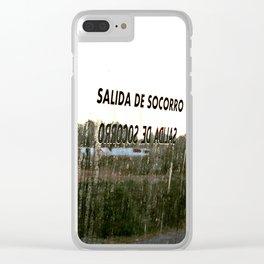 Salida de Socorro Clear iPhone Case