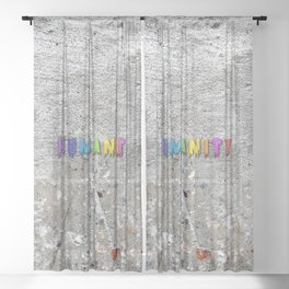 Humanity Paint Sheer Curtain