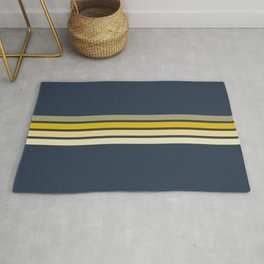 Racing Retro Stripes Rug