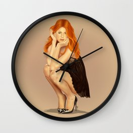 I Love Redheads Wall Clock