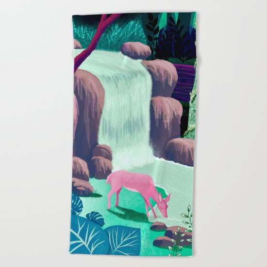 The Whispering Waters of Eventide Vale Beach Towel