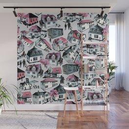 Danish small town pattern Wall Mural