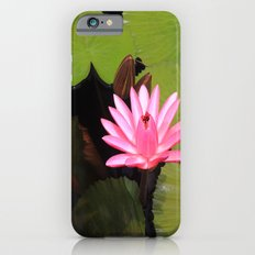 pink lily pad flower Slim Case iPhone 6s