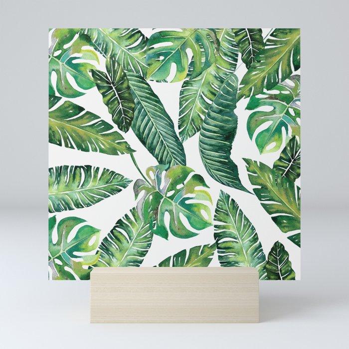 Jungle Leaves, Banana, Monstera #society6 Mini Art Print