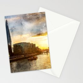 london-evening-sun-river-thames1 Stationery Cards