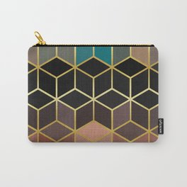 Pattern of squares with gold II Carry-All Pouch