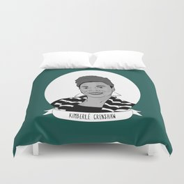 Kimberlé Crenshaw Illustrated Portrait Duvet Cover