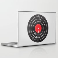 running Laptop & iPad Skins featuring Vinyl Running by Mateus Quandt