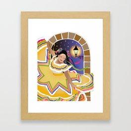 Fiesta Mexican Dancer Framed Art Print