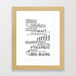 Big Bang Theme Framed Art Print