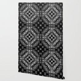 Dark kaleidoscope pattern Wallpaper