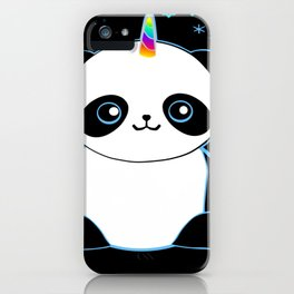 Pandacorn in the Darkness and the Snow iPhone Case
