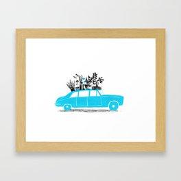 Black and blue. Framed Art Print