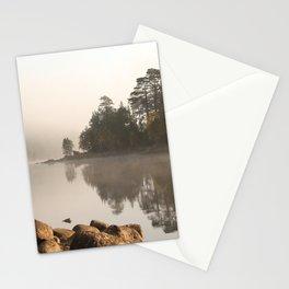 Loch Affric in morning mist Stationery Cards