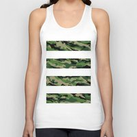 camo Tank Tops featuring Camo by angelasoto