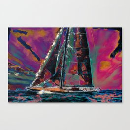 J-Class Yacht Canvas Print
