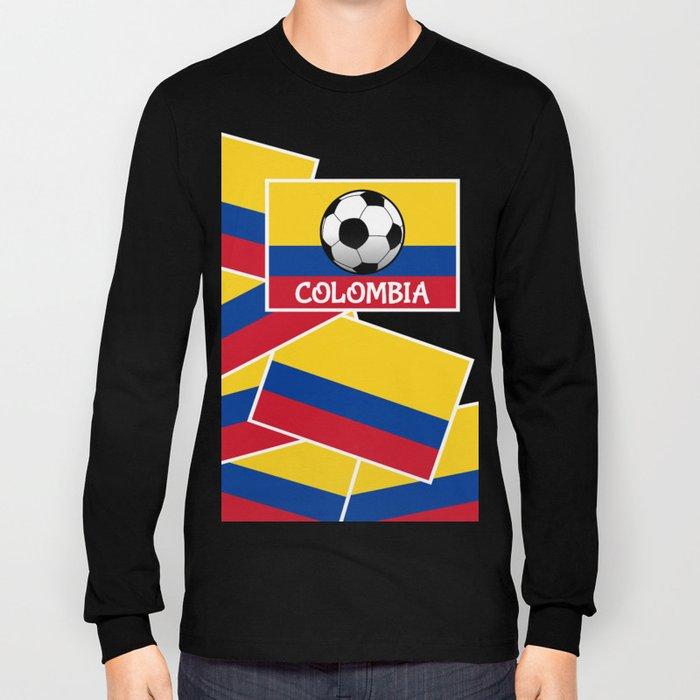 Colombia Football Long Sleeve T-shirt