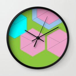 Harmonious Aqua Pink  Wall Clock