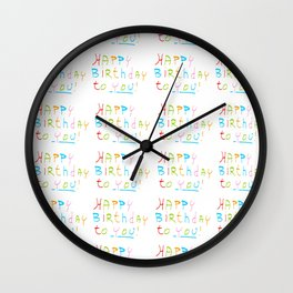Happy birthday 1-Happy birthday, birthday,greeting,candle,birth date, anniversary Wall Clock