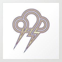 Rainbow Lightning Art Print