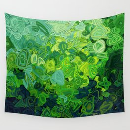 Composition #82 (shades of green) Wall Tapestry