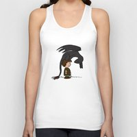 hiccup Tank Tops featuring He's Your Dragon, Hiccup by mikaelak