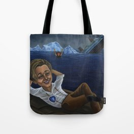 Caricature of Leo Dicaprio as Jack Tote Bag