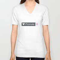 large V-neck T-shirts featuring Promote large by lazylaves
