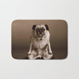 Pug the Yoga Doga Dog Bath Mat