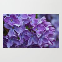 free shipping Area & Throw Rugs featuring Lilac spring free shipping by Ordiraptus