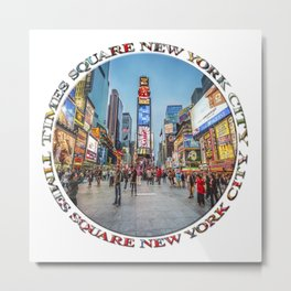 Times Square Sparkle (badge on white) Metal Print