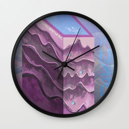 Save Water Wall Clock