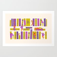 Writers and readers 1 Art Print