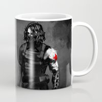 bucky barnes Mugs featuring Who the hell is Bucky? by charlotvanh
