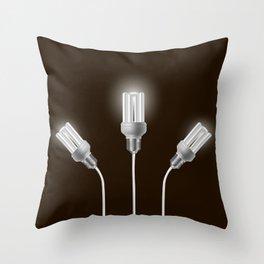 Energy saving bulbs with cords Throw Pillow