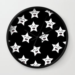 Happy Stars Wall Clock