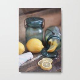 Make Lemonade - Summertime Still Life Metal Print