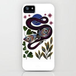 Moth & Snake iPhone Case