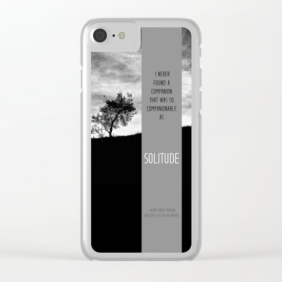 Henry David Thoreau - Solitude Clear iPhone Case