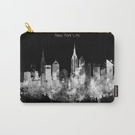 New York City Inverted Watercolor Skyline Carry-All Pouch
