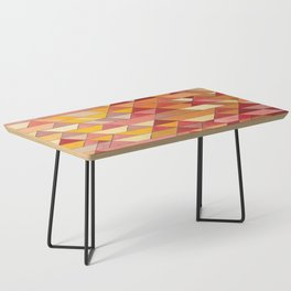 Triangle Pattern no.4 Warm Colors Red and Yellow Coffee Table