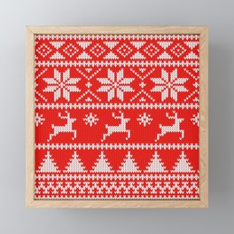 Fair Isle Christmas Framed Mini Art Print