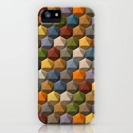 icosahedron multicolor iPhone Case