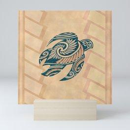 Vintage Hawaiian Tribal Turtle Mini Art Print